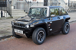 © Licensed to London News Pictures. 10/12/2011. A rare Mev Hummer HX-T miniature electric Hummer car spotted parked on a North London street today (10/12/2011).  Photo credit: LNP