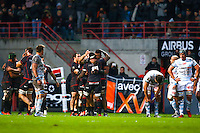 Joie Toulouse / Deception Racing Metro  - 28.12.2014 - Toulouse / Racing Metro - 14eme journee de Top 14 <br /> Photo :  Manuel Blondeau / Icon Sport