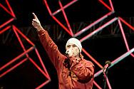 Zoran 'Prlja' Prodanović, lead singer of legendary Croatian rock group Let 3, during final rehearsal of Opera Industriale, on the opening weekend of Rijeka2020. Rijeka, European Capital of Culture 2020, Croatia © Rudolf Abraham