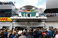 PODIUM ROSBERG nico (ger) mercedes gp mgp w06 ambiance portrait HAMILTON lewis (gbr) mercedes gp mgp w06 ambiance portrait MASSA felipe (bra) williams f1 mercedes fw37 ambiance portrait during the 2015 Formula One World Championship, Grand Prix of Austria from june 18 to 22nd 2015,  in Spielberg, Austria. Photo Gregory Lenormand / DPPI