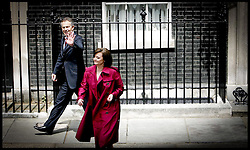 Tony Blair and his wife Cherie  leave Downing st  as he stands down as PM.PRESS ASSOCIATION Photo. Picture date:Wednesday 27th June  , 2007. Photo credit should read: Andrew Parsons/PA.