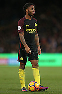 Raheem Sterling of Manchester City looking on. Premier League match, Crystal Palace v Manchester city at Selhurst Park in London on Saturday 19th November 2016. pic by John Patrick Fletcher, Andrew Orchard sports photography.