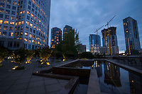 Plaza @ Concur Technologies, Downtown Bellevue, Night
