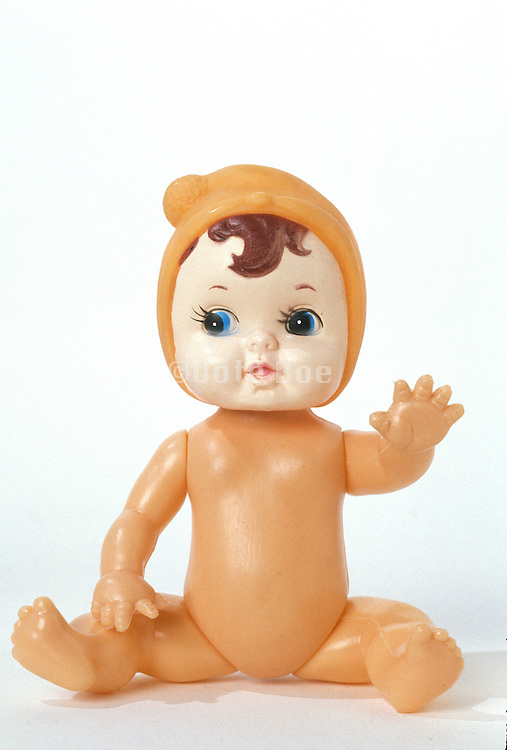 front view sitting doll