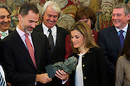 121514 Spanish Royals attend and audience with the Board of the Academy of Cinema of Spain