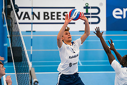 Rick van der Sluis #2 of Sliedrecht Sport in action in the second round between Sliedrecht Sport and Draisma Dynamo on February 29, 2020 in sports hall de Basis, Sliedrecht