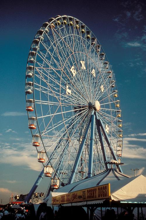 Largest ferris wheel, Texas Star, at State Fair in Dallas, Texas.<br /> ©Bob Daemmrich/