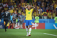 Neymar of Brazil reacts during the 2018 FIFA World Cup Russia, Group E football match between Erbia and Brazil on June 27, 2018 at Spartak Stadium in Moscow, Russia - Photo Thiago Bernardes / FramePhoto / ProSportsImages / DPPI