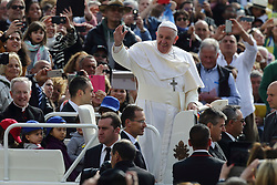 Apr 26, 2017 - Vatican City State (Holy See) - POPE FRANCIS during his Wednesday general audience in St. Peter's Square at the Vatican  (Credit Image: © Evandro Inetti via ZUMA Wire)