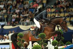 Tebbel Maurice, (GER), Chacco's Son<br /> DKB-Riders Tour<br /> Grand Prix Kreditbank Jumping München 2015<br /> © Hippo Foto - Stefan Lafrentz