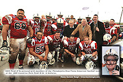 Paidi O'Se pictured with members of the  Philadelphia Blue Flame American football team at the  2009 Comórtas Peile Páidi Ó Sé  in Gallarus, Co. Kerry on Saturday. The tournament featured an American Football exhibition match between The Philadelphia Blue Flame and  the University of Limerick Vikings . Also included are Kevin O'Sullivan and Patrick Barry, Cadbury Ireland.Picture: Eamonn Keogh (MacMonagle, Killarney)