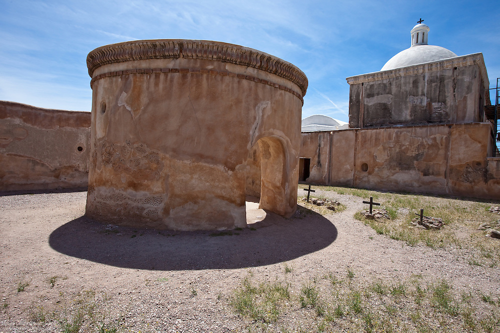 Mortuary Chapel of the Spanish mission in Tumacacori National Historical Park, Arizona