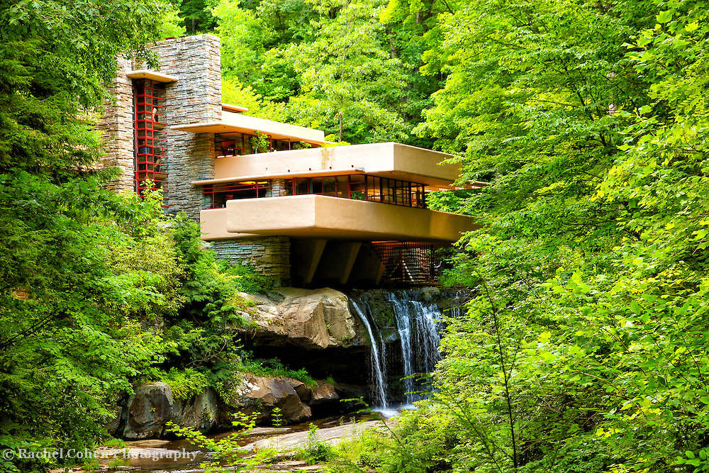 """""""Dreaming of Fallingwater"""" 2<br /> <br /> Beautiful Fallingwater in the Laurel Highlands of Pennsylvania!!<br /> <br /> Architecture: Structures and buildings by Rachel Cohen"""