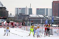 Langrenn<br /> FIS World Cup / Verdenscup<br /> Düsseldorf Tyskland<br /> 04.12.2010<br /> Foto: Gepa/Digitalsport<br /> NORWAY ONLY<br /> <br /> FIS Weltcup, 0,8km Sprint der Damen. Bild zeigt Hanna Brodin (SWE), Vesna Fabjan (SLO), Arianna Follis (ITA), Hanna Falk (SWE), Celine Brun-Lie (NOR) und Kikkan Randall (USA).
