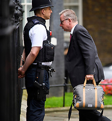 © Licensed to London News Pictures. 27/06/2016. London, UK. Brett campaigner and Secretary of State for Justice MICHAEL GOVE MP arrives at number 10 Downing street in London,  for the first government cabinet meeting after the UK voted to leave the EU in a referendum. Photo credit: Ben Cawthra/LNP