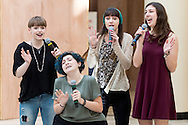 """Town of Wallkill, New York - Goshen High School students perform a sample of the musical """"Cinderella"""" in the 2017 All-County Musical Showcase and Visual Arts Display at the Galleria at Crystal Run on Feb. 25, 2017."""