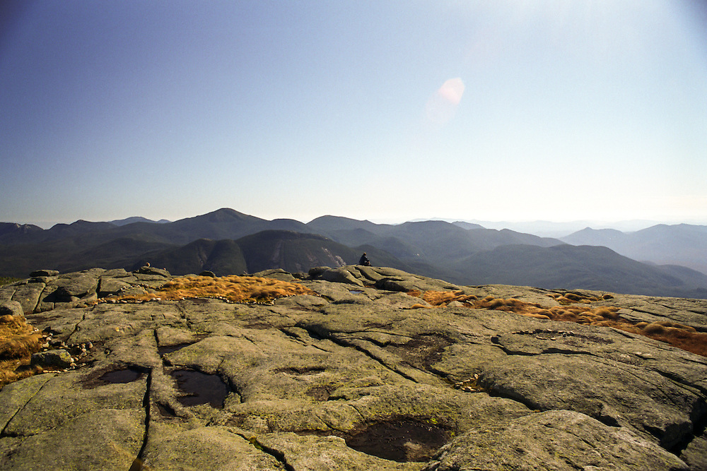 Views from Algonquin mountain looking out over the Adirondack mountains of New York State.