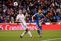 "Real Madrid's Lucas Vazquez and Celta de Vigo's Jonathan Castro ""Jonny"" during Copa del Rey match between Real Madrid and Celta de Vigo at Santiago Bernabeu Stadium in Madrid, Spain. January 18, 2017. (ALTERPHOTOS/BorjaB.Hojas)"