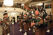 LONDON SCOTTISH PIPES AND DRUMS, The Royal Caledonian Ball 2013. The Great Room, Grosvenor House. Park lane. London. 3 May 2013.