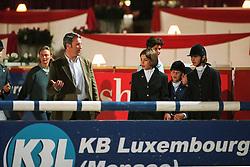 Bost Roger Yves (FRA), Princess Charlotte, Maillot Juliette, Malherbe Cassandra<br /> CSI-A Monaco 1999<br /> © Dirk Caremans