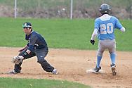 Goshen, New York - John S. Burke Catholic High School plays Sullivan West  in a baseball game on May 2, 2014.