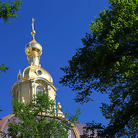 Europe, Russia, St. Petersburg. The Peter and Paul Fortress Chapel.