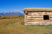The Cunningham Cabin Historic Site under the Teton Range, Grand Teton National Park, Wyoming