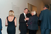 SIR NICHOLAS SEROTA, Gerhard Richter: Panorama. Tate Modern. London. 4 October 2011. <br /> <br />  , -DO NOT ARCHIVE-© Copyright Photograph by Dafydd Jones. 248 Clapham Rd. London SW9 0PZ. Tel 0207 820 0771. www.dafjones.com.