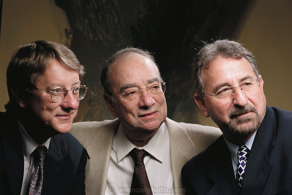 Pherin Pharmaceutical in Mountain View, California. Company founders left to right: Jennings, White and Louis Monti, MD, PhD. MODEL RELEASED (2002)