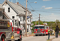 Baldwin Street apartment complex fire Wednesday morning in Laconia, NH.  (Karen Bobotas/for the Laconia Daily Sun)Baldwin Street apartment complex fire Wednesday morning in Laconia, NH.  Karen Bobotas/for the Laconia Daily Sun