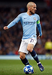 Manchester City's David Silva during the UEFA Champions League match at the Etihad Stadium, Manchester. PRESS ASSOCIATION Photo. Picture date: Wednesday November 7, 2018. See PA story SOCCER Man City. Photo credit should read: Martin Rickett/PA Wire