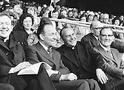 VIPs in the stands during the All Ireland Senior Gaelic Football Semi Final Replay Roscommon v Armagh in Croke Park on the 28th August 1977. Armagh 0-15 Roscommon 0-14.