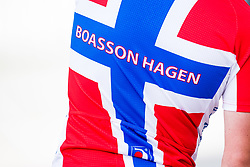 May 20, 2018 - Lillehammer, NORWAY - 180520 A jersey with the text ''Boasson Hagen'' during the last stage of the Tour of Norway on May 20, 2018 in Lillehammer..Photo: Jon Olav Nesvold / BILDBYRÃ…N / kod JE / 160254 (Credit Image: © Jon Olav Nesvold/Bildbyran via ZUMA Press)