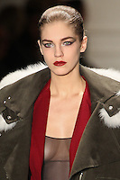 Samantha Gradoville walks the runway wearing Altuzarra Fall 2011 Collection during Mercedes-Benz Fashion Week in New York on February 12, 2011