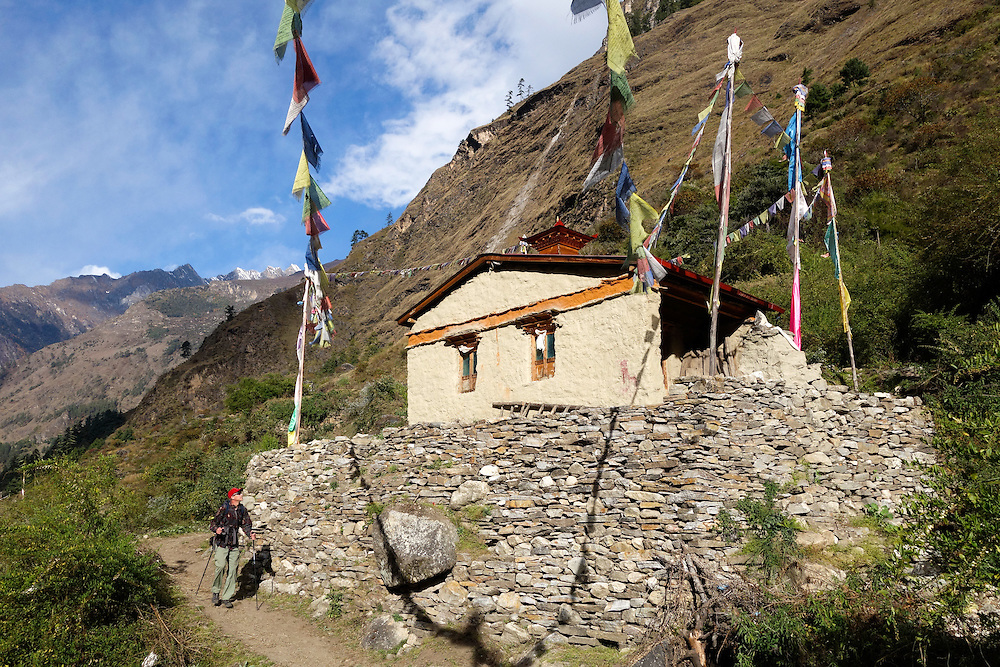 Buddhist temple in the Tsum Valley of Nepal.