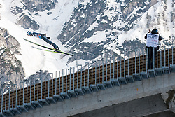Skijumper and photographer during Large Hill Individual Event at 2nd day of FIS Ski Jumping World Cup Finals Planica 2014, on March 21, 2014 in Planica, Slovenia. Photo by Grega Valancic / Sportida