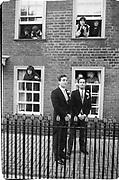 Groom and best man: Charles Heilbronn. Marriage Lady Joanna Knatbull/baron Hubert de Breuil St. Mary's Ashtard, 3.11.84© Copyright Photograph by Dafydd Jones 66 Stockwell Park Rd. London SW9 0DA Tel 020 7733 0108 www.dafjones.com