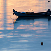 Traditional fishing boat of Tagus river