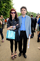 NATHALIE HAMBRO and GIOVANNI GASPARINI at a private view of work by Wolfgang Tillmans at The Serpentine Gallery, Kensington Gardens, London on 25th June 2010.