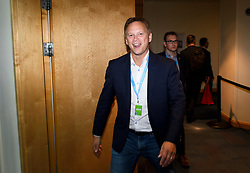 © Licensed to London News Pictures. 01/10/2018. Birmingham, UK. GRANT SHAPPS MP attends day two of the 2018 Conservative Party autumn conference at the ICC in Birmingham. This years event is focused heavily on Brexit and negotiations with the EU over the UK's exit form the European Union. Photo credit: Ben Cawthra/LNP