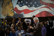 Former President Bill Clinton speaks at Paul Quinn College as he campaigns for his wife, Democratic presidential candidate Hillary Clinton, in Dallas, Texas on February 22, 2016.  (Cooper Neill for The Texas Tribune)