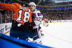 Andrew Shaw of Chicago Blackhawks during NHL game between teams Chicago Blackhawks and Philadelphia Flyers at NHL Global Series in Prague, O2 arena on 4th of October 2019, Prague, Czech Republic. Photo by Grega Valancic / Sportida