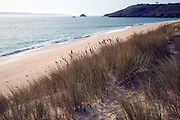 Looking south over Shell beach, Island of Herm, Channel Islands, Great Britain