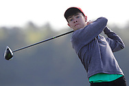 Ryan McNelis (Fintona) on the 2nd tee during Round 2 of the Ulster Boys Championship at Donegal Golf Club, Murvagh, Donegal, Co Donegal on Thursday 25th April 2019.<br /> Picture:  Thos Caffrey / www.golffile.ie