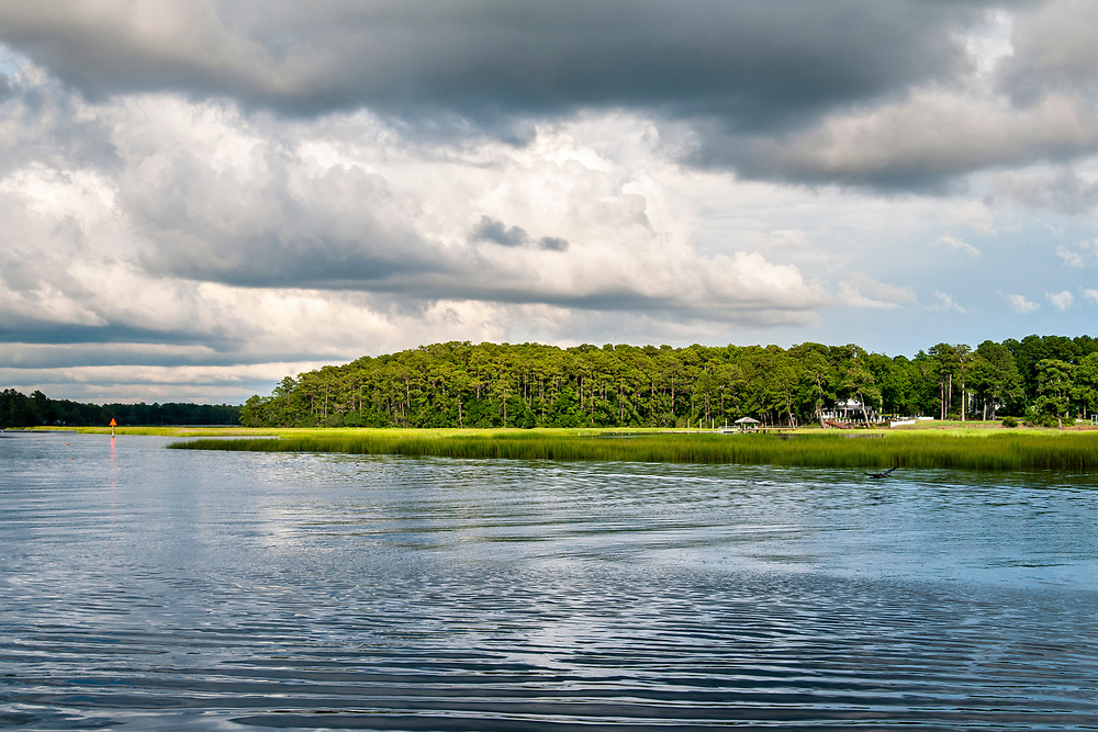 View across the Calabash River in Calabash, North Carolina on Thursday, August 5, 2021. Copyright 2021 Jason Barnette