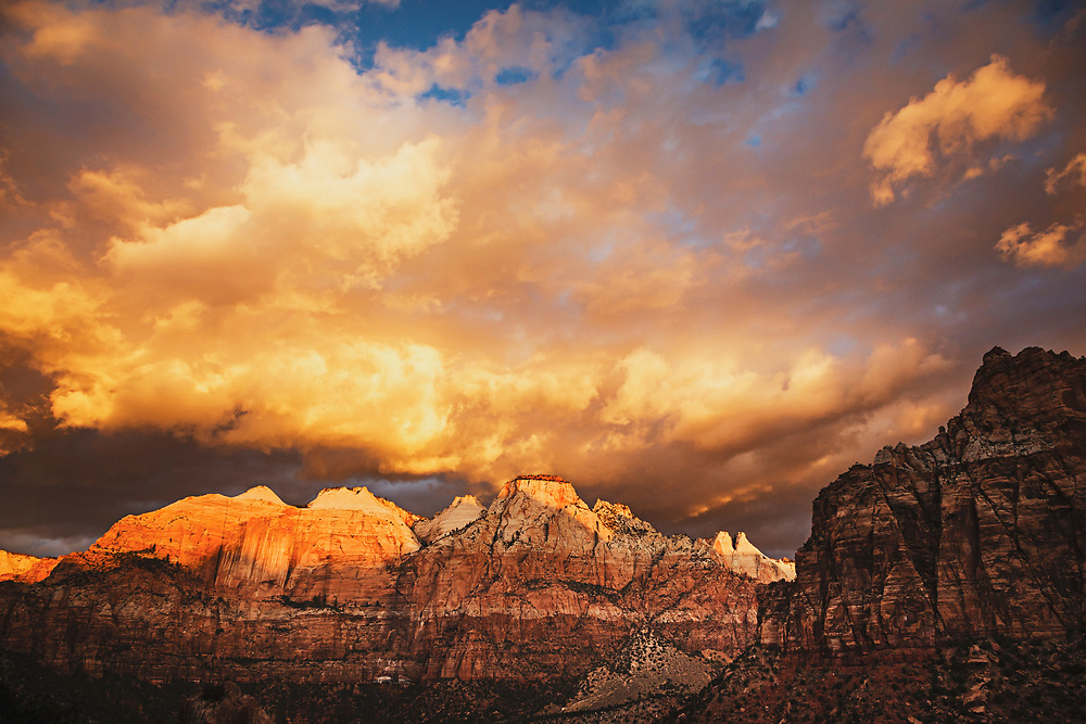 Sunrise on The Sentinel, Zion National Park.