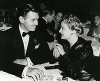 1940 Clark Gable and Carole Lombard at Ciro's Nightclub