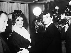 Actress Elizabeth Taylor and her husband, singer Eddie Fisher.