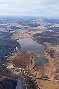 Aerial photograph of Indian Lake County Park, Dane County, Wisconsin, USA.