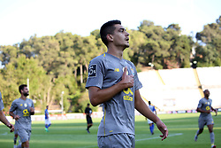 August 19, 2018 - Lisbon, Portugal - Porto's Portuguese defender Diogo Leite celebrates after scoring a goal during the Portuguese League football match Belenenses vs FC Porto at the Jamor stadium in Lisbon on August 19, 2018. (Credit Image: © Pedro Fiuza via ZUMA Wire)